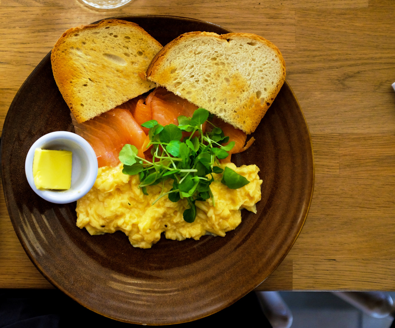 Post Run - Forge & Co 2 - Smoked salmon and scrambled eggs